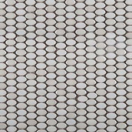 Emser Tile Confetti White Oval Mosaic W85CONFWH1212MOO