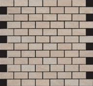 "Happy Floors Sagamore Amber 1"" x 2"" Brick Mosaic 5022-C"