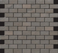 "Happy Floors Sagamore Taupe 1"" x 2"" Brick Mosaic 5037-C"