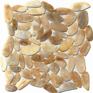 "Puccini Pebble Collection Caribbean St. Kitts Gold 12""X12"" Flat Pebble Stone"