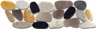 "Puccini Pebble Collection Caribbean St. Martin Rainbow 4""X12"" Flat Pebble Stone"