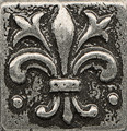 Bedrosians Ambiance  Promenade 1x1 Metal Pewter