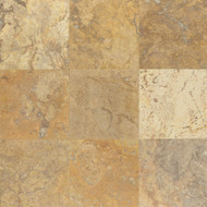 "Bedrosians Travertine Scabos Honed 12"" x 12"""