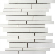 Emser Tile Style Porcelain Pure White Mosaic Matte/Polish Mix