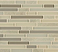 Crossville Tile Ebb & Flow Flora and Fauna  Mixed Linear Mosaic
