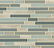 Crossville Tile Ebb & Flow Sand and Surf Mixed Linear Mosaic