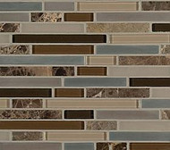 Crossville Tile Ebb & Flow Sticks and Stones  Mixed Linear Mosaic