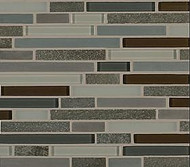 Crossville Tile Ebb & Flow Dusk and Dawn  Mixed Linear Mosaic