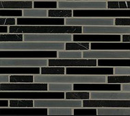 Crossville Tile Ebb & Flow Cinders and Smoke  Mixed Linear Mosaic
