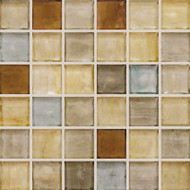 "Hirsch Glass Blended Ice Natural Beauty 1"" x 1"" Mosaic"