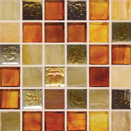 "Hirsch Glass Blended Ice Retro 1"" x 1"" Mosaic"