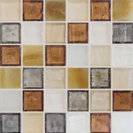 "Hirsch Glass Blended Ice High Society 1"" x 1"" Mosaic"