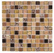 "Bati Orient Decorative Mosaics Beige/Brown 7/8"" x 7/8"" Marble, Glass, and Metal"