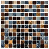 "Bati Orient Decorative Mosaics Brown/Mix Glass 1"" x 1"" Marble With Glass Decors"