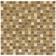 "Bati Orient Decorative Mosaics Beige/Beige Glass 5/8"" x 5/8"" Marble And Glass"