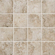 "American Olean Bordeaux Floor Cream 3"" x 3"" Pressed Mosaic"