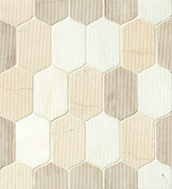 Bedrosians Tilecrest Luxembourg Tuileries Lily Mosaic
