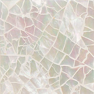 "Daltile Ocean Jewels Mother Of Pearl Crackled Flat Liner 1"" x 6"""