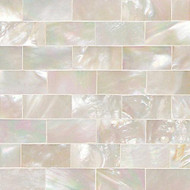 "Daltile Ocean Jewels Mother Of Pearl Running Board Flat Liner 1"" x 6"""