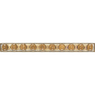 Daltile Cristallo Glass Smoky Topaz Bead