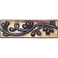 Daltile Cristallo Glass Black Opal Vine