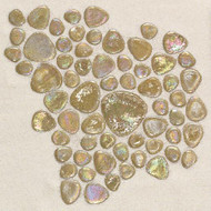 Daltile Glass Pebbles Wheat Iridescent Mosaic