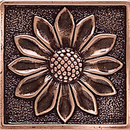 Daltile Massalia Copper Tile Floral Dot