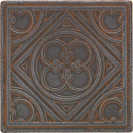 "Daltile Castle Metals Wrought Iron Clover Insert 4 1/2"" x 4 1/2"""