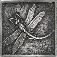 Daltile Massalia Pewter Tile Dragon Fly Dot
