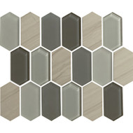 "American Olean Alair Linear Hexagon Slate 2"" x 4"""