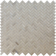 American Olean Novelty Glass Quartz Herringbone Mosaic