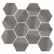 "Eleganza Tile Burlington Dark Grey 11.69""x 12.40"" Hex"