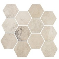 "Eleganza Tile Concrete White Cloud 10"" x 11.50"" Matte Hex"
