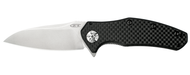 Zero Tolerance 0770CF  S35VN Steel Plain Edge Pocket Knife Carbon Fiber Handle