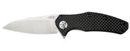 Zero Tolerance 0770CF  Elmax Steel Plain Edge Pocket Knife Carbon Fiber Handle