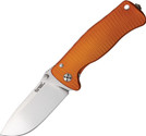 Lion Steel SR Mini Molleta Knife Plain Edge Grooved Orange Handle LSTSR2AOS