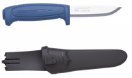 Mora Knives Basic 546 Fixed Blade Knife Blue Handle Plain Edge Sheath 12241