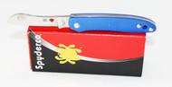 Spyderco Roadie Double Dent Non Locking Pocket Knife Blue FRN Handle C189PBL