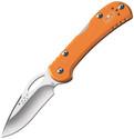 Buck Mini Spitfire Knife Orange Aluminum Handle Plain Edge 726ORS