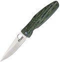 Mcusta Rikyu Linerlock Knife Etched Teach Ceremony VG-10 Plain Edge MCU184