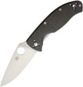 Spyderco Tenacious Pocket Knife Carbon Fiber Handle Plain Edge Blade C122CFP