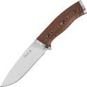 Buck Selkirk Survival Knife Brown & Black Micarta Handle Plain Edge 863BRS