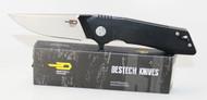 Bestech Knives Thorn Knife Black G-10 Handle Black + Satin 12C27 Blade BG10A-1