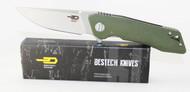Bestech Knives Thorn Knife Green G-10 Handle STW + Satin 12C27 Blade BG10B-2