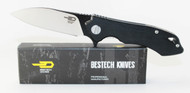 Bestech Knives Beluga Knife Black G-10 Handle Black + Satin 12C27 Blade BG11A-1