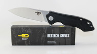 Bestech Knives Beluga Knife Black G-10 Handle STW+ Satin 12C27 Blade BG11A-2