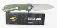 Bestech Knives Beluga Knife Green G-10 Handle STW+ Satin 12C27 Blade BG11B-2