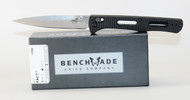 Benchmade Fact Knife Black Aluminum Handle CPM-S30V Satin Plain Edge 417