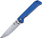 Kizer Cutlery Begleiter Knife Blue G-10 Handle VG-10 Stonewash Plain V4458A3