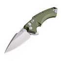 Hogue Knives X-5 Knife OD Green Aluminum Handle Plain CPM-154 Edge 34571